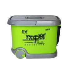 悦卡(YUECAR)电动高压洗车机洗车器洗车水枪 12V车载拉杆滚轮款 36L单泵