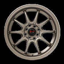 【四只套装】丰途/华固HG2161 16寸 低压铸造轮毂 孔距4X100/4X114.3 ET40消光古铜