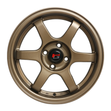 【四只套装】丰途/华固HG2662 15寸 低压铸造轮毂 孔距4X100 ET38消光古铜