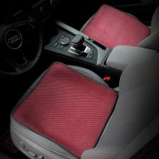 五福金牛夏季坐垫冰丝座垫小单垫一对装 红色