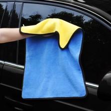 悦卡(YUECAR)洗车毛巾双层双色 加厚珊瑚绒擦车布 吸水毛巾40*60+30*40(2条装混色)YC-1048