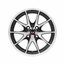 丰途/华固HG2562 14寸 低压铸造轮毂 孔距4X100 ET35黑色车亮
