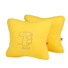 GIGI  G-1069 四季车饰车用办公用 可爱抱枕 腰靠垫   【黄色】