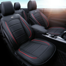 文丰 WF-ZC6727 至护版后背全包版 倍耐纤皮五座专车专用定制汽车座垫【黑色】