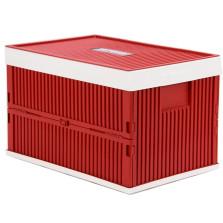 富程 汽车折叠置物箱 车用大号储物箱 整理箱(红色52L)