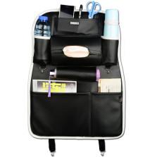 WRC FGZWD 运动格系列 多功能纤皮车用收纳置物椅背袋【碳纤黑色】