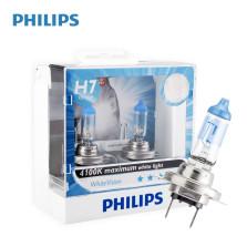飞利浦/PHILIPS 亮白光White Vision 4100K H7 12V 55W 升级型卤素灯12972WHV【双只】暖白光色
