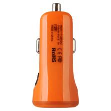 倍思 充动系列 车载充电器点烟器插头双usb型2A车充一拖二【橙色】CCALL-CR07