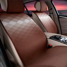 Mubo牧宝 MSJ 1607系列 舒适透气炫彩时尚四季空调垫五座通用汽车坐垫【咖色】