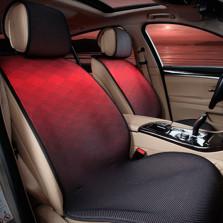 Mubo牧宝 MSJ 1607系列 舒适透气炫彩时尚四季空调垫五座通用汽车座垫【黑色】
