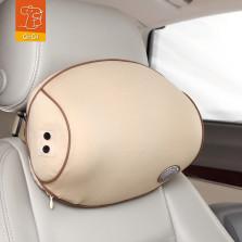 GiGi 车载按摩器护颈枕 太空记忆棉变频按摩头枕【象牙杏】