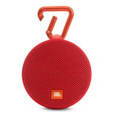 JBL Clip2 音乐盒2 蓝牙便携音箱音响 户外迷你小音响音箱 防水设计 高保真无噪声通话【节日红】
