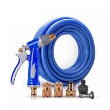 传枫/chuanfeng 金属洗车水枪套装 蓝色水枪+15米海蓝水管套装 CF-9015B