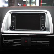 NFS 马自达CX-5 中控台装饰框 导航架装饰亮条 13-16款【15款专用 ABS电镀】