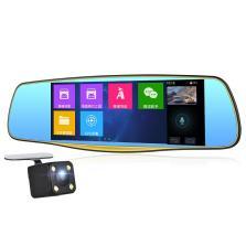 丁威特 T68行车记录仪双镜头倒车可视高清后视导航带电子狗一体机倒车影像+16G存储卡