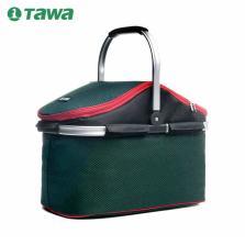TAWA 车载保温箱 野餐包四人套装野餐篮保温户外餐具包烧烤包【绿色】1402A150