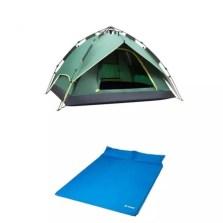 德国TAWA 【液压全自动套餐】3-4人帐篷+双人气垫床 家庭户外防雨帐篷套餐(实用套餐)