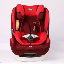 REEBABY儿童安全座椅汽车用 0-12岁全注塑isofix硬接口 926 温莎红