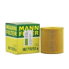 曼牌/MANNFILTER 机油滤清器 HU711/51X