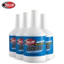 红线/Red Line 美国原装进口全合成机油 0W-40 SN级【4瓶装】