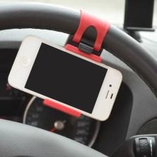 车洁邦/CheJieBang 汽车方向盘手机支架车载座椅支架【黑红款】