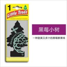 美国小树/Little Trees 汽车香片 香水挂件 除异味车载香水【黑莓小树】