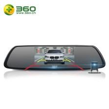 360行车记录仪M301 前后双镜头手机互联 后视镜高清夜视倒车影像全景三合一 标配