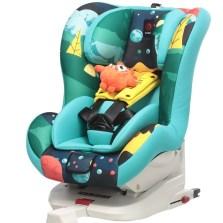 感恩依蕾托安全座椅汽车用儿童安全座椅0-4岁isofix接口B30(枫林蓝)