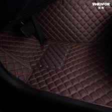 文丰 皮革菱格大包围专车专用五座脚垫JD15【咖色】【多色可选】
