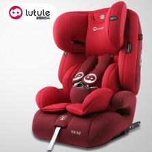 路途乐 汽车儿童安全座椅9月-12岁 ISOFIX接口 3C认证 路路熊Air C【贵族红】