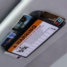 汽车cd夹遮阳板套多功能包车载cd包碟片套夹收纳光盘套临时停车牌