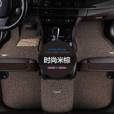 固特异 专车专用五座丝圈脚垫 【飞艇系列 米棕色】