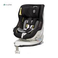 宝贝第一 企鹅萌军团 0-4岁 360°旋转 带isofix婴儿安全座椅(紫金黑)