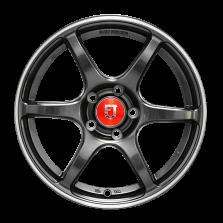 【四只套装】丰途/FR652 15寸 旋压铸造轮毂 孔距5X100 ET35亮铁灰+铣肋+车边