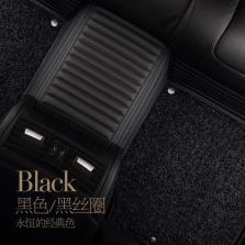 BBA车品制造商 文丰静音系列皮革丝圈双层可拆卸专车专用五座脚垫JD22【黑色】