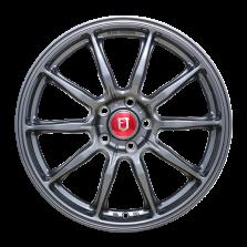 【买3送1 四只套装】丰途/FR153 18寸 旋压铸造轮毂 孔距5X108 ET40亮铁灰全涂