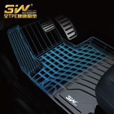 3W 全TPE脚垫奥迪A3 A4L A6L Q3 Q5 Q5L Q7专车专用无异味健康脚垫【A6L黑色】