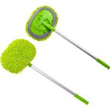 卡饰社/CarSetCity雪尼尔长杆可伸缩洗车拖把洗车刷 汽车掸子扫擦车拖把洗车工具 CS-83021 绿色