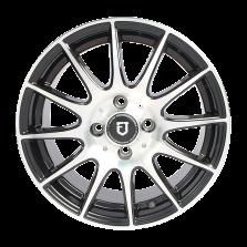 【买3送1四只套装】丰途/FT101 14寸低压铸造轮毂 孔距4X114.3 黑色车亮