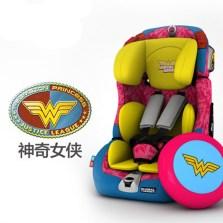感恩超人蝙蝠侠儿童安全座椅 神奇女侠宝宝座椅isofix9月-12岁 神奇女侠