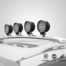 韦帕 车顶射灯 中网射灯 射灯改装 越野LED射灯探照灯 专用横杆+都市型LED圆形射灯(27w)X4无损安装