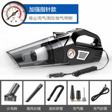 途虎定制 车载吸尘器大功率强力吸尘充气泵照明胎压数显多功能四合一  有线指针款