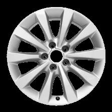 丰途严选/HG0177 17寸 奥迪A6L原厂款轮毂 孔距5X112 ET38银色涂装