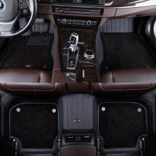 洛奇 专车专用压模全包围双层脚垫【黑色五座】