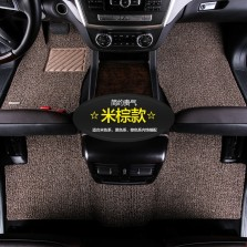 乔氏 思哥达系列 耐磨耐脏地毯式丝圈专车专用七座汽车脚垫 14mm厚度【米棕】