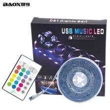 暴享 汽车led冷光线氛围灯七彩led 5m音乐灯带 全车座装饰氛围灯 免改装 5V USB接口 赠专用遥控