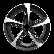 【买3送1 四只套装】丰途严选/HG5053 18寸 奥迪刀锋款轮毂 孔距5X112 ET39黑色车亮