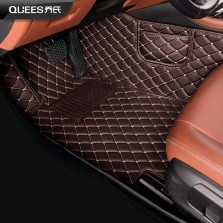 乔氏 迪曼全包围专车专用皮革脚垫【单层棕色】