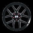 【热销款 买3送1 四只套装】丰途/华固HR353 18寸 旋压铸造轮毂 孔距5X112 ET38黑色涂装