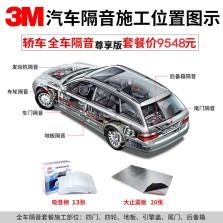 3M轿车全车隔音尊享版 (13张棉 TC3303,20张减震板 80x48cm)